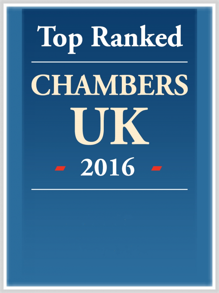 Top Ranked in Chambers 2016