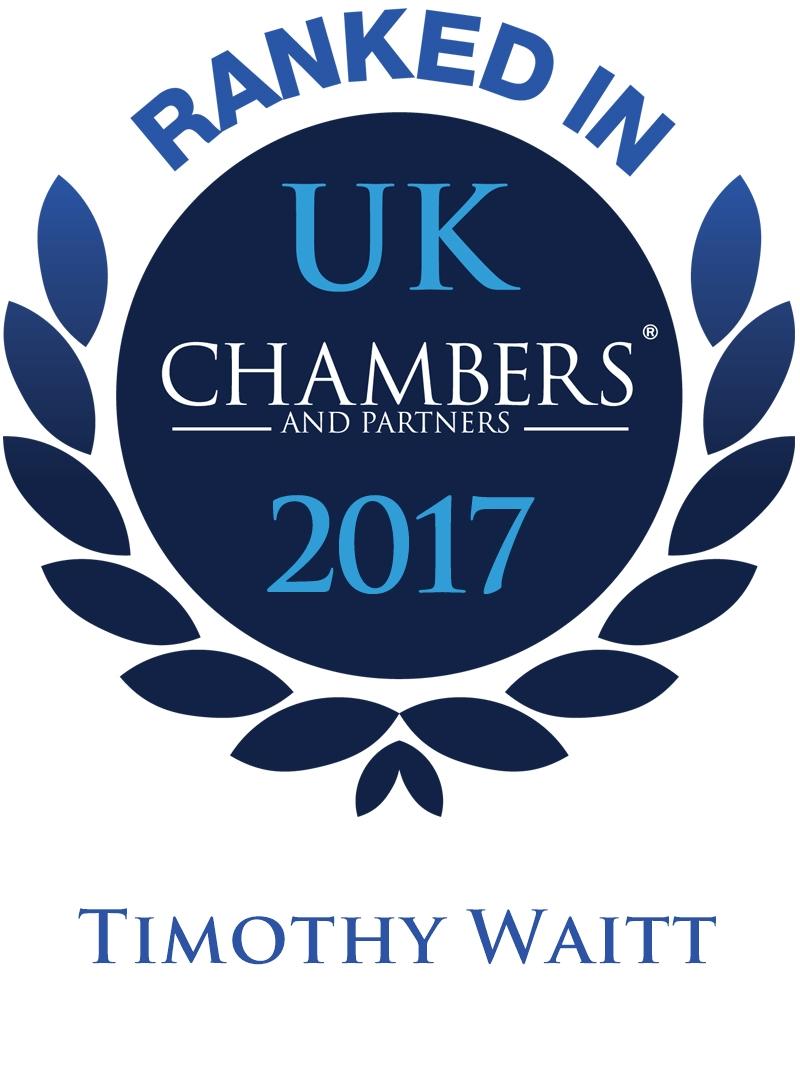 Ranked in Chambers & Partners Timothy Waitt